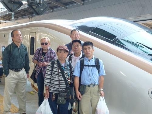 ホームの旅行4北陸新幹線乗車 (1)